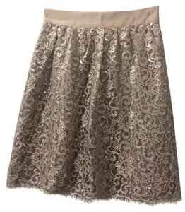 J.Crew Skirt Silver and tan