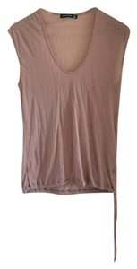 Alternative Apparel Sheer Sleeveless Top Blush
