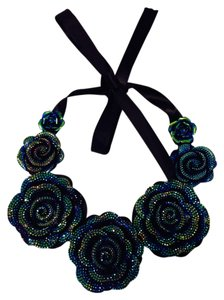 Blue Green Peacock necklace