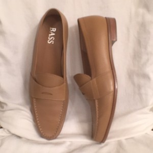 Bass New Leather Penny Loafers Tan Flats