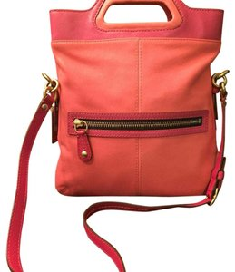 Coach Satchel in Coral/Fuchsia