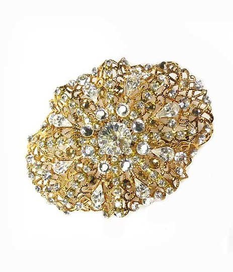 Gold Carnivale Clip Hair Accessory