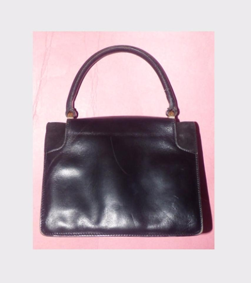 dc5f661e9cb20a Gucci True 1960's Mod Early Two-tone Hardware Kelly Style Hard & Boxy Shape  Satchel. 12345