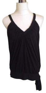 United Colors of Benetton Bow V-neck Sleeveless Top Black