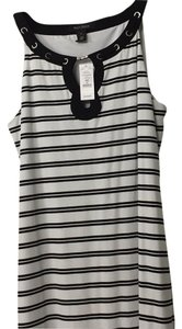 White House | Black Market short dress White with black horizontal stripes on Tradesy