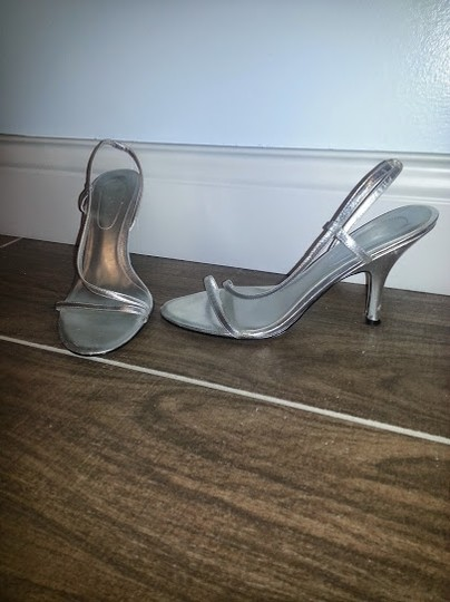 Nine West Stiletto Sandal Date Night Night Out Metallic Silver Formal