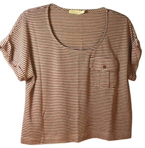 Pins and Needles T Shirt Multi red & cream/beige