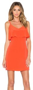 Joie short dress Orange Parthenab Parthena Silk on Tradesy
