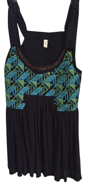 Preload https://img-static.tradesy.com/item/17451958/tiny-black-teal-and-green-embroidered-tank-topcami-size-6-s-0-1-650-650.jpg