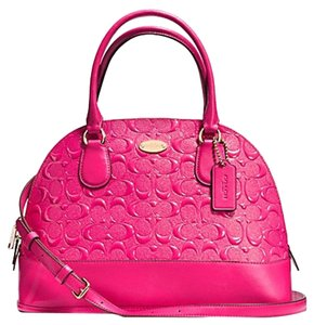 Coach Patent Leather Satchel in Pink
