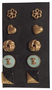 Forever 21 Gold Stud Earrings (5-Pack)
