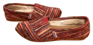 TOMS Red Multi Flats