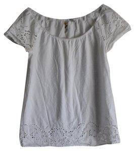 Mimi Chica Keyhole Summer Lightweight Top White