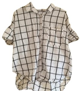 BP. Clothing Button Down Shirt Black and white