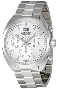 Movado Silver Stainless Steel Designer MENS Dress Casual Watch