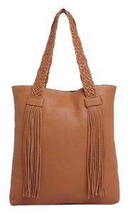 Rebecca Minkoff Leather Braided Supple Tote in Brown