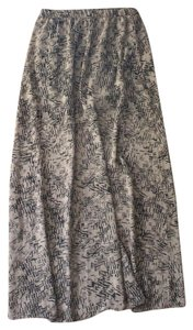 Forever 21 Chiffon Boho Mini Skirt Taupe Black