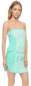 Melissa Odabash Strapless embroidered dress/coverup
