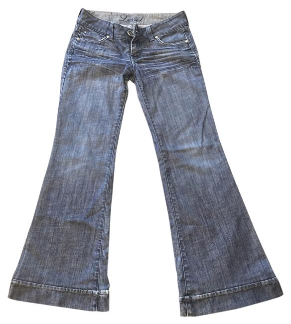Item - Distressed Flare Leg Jeans Size 28 (4, S)