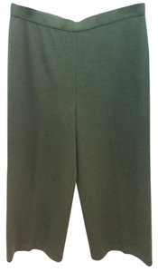 St. John Olive Green Knit Straight Pants