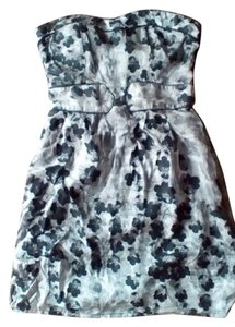 Modcloth short dress Black and Silver on Tradesy