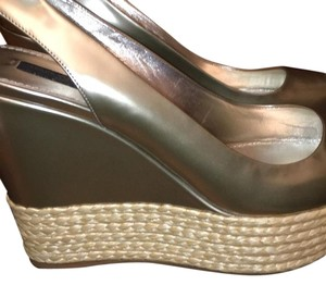 Louis Vuitton Silver Wedges