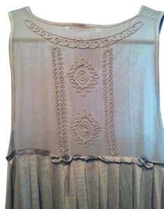 Banana Republic short dress Silver Sleevless Detail on Tradesy