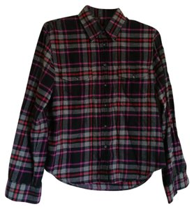 The Limited Button Down Shirt lllack, Gray, Purple