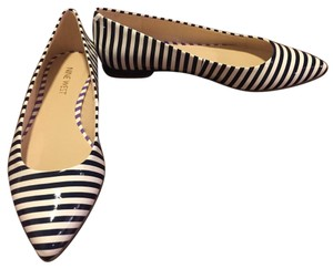 Nine West Blue and white striped Flats