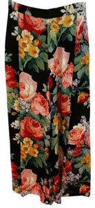 Ellen Tracy Floral Silk Relaxed Pants