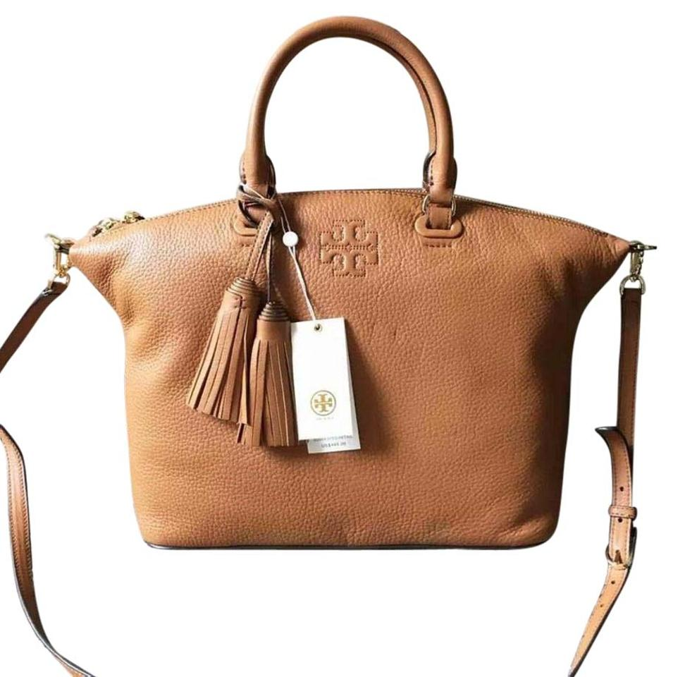 4c682e66f3e6 Tory Burch Thea Medium Slouchy Bark Brown Leather Satchel - Tradesy