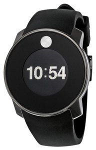 Movado Grey Stainless Steel case Black Silicone Strap Designer MENS Casual Sport Watch
