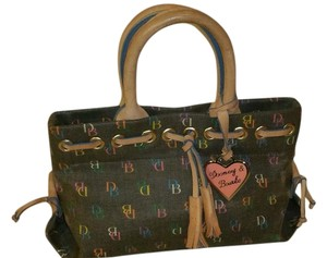 Dooney & Bourke Canvas Leather Tote in Multi-color