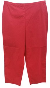 Eileen Fisher Cotton Straight Pants RED