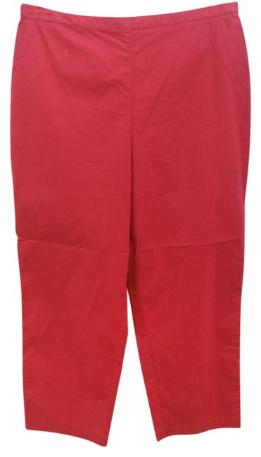 Item - Red Partially Elastic Waist Stretchy M Pants Size 8 (M, 29, 30)