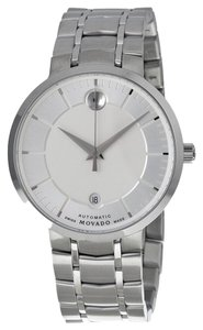 Movado Silver tone Stainless Steel Designer