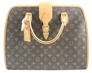 Louis Vuitton Monogram Leather Rivoli Satchel in Browns
