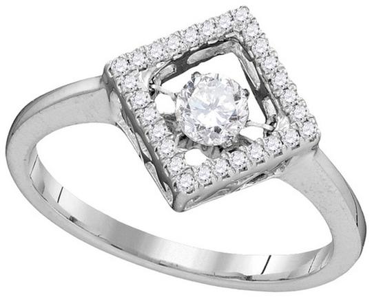 Other Ladies Luxury Designer 10k White Gold 0.19 Cttw Diamond Fashion Ring By BrianGdesigns