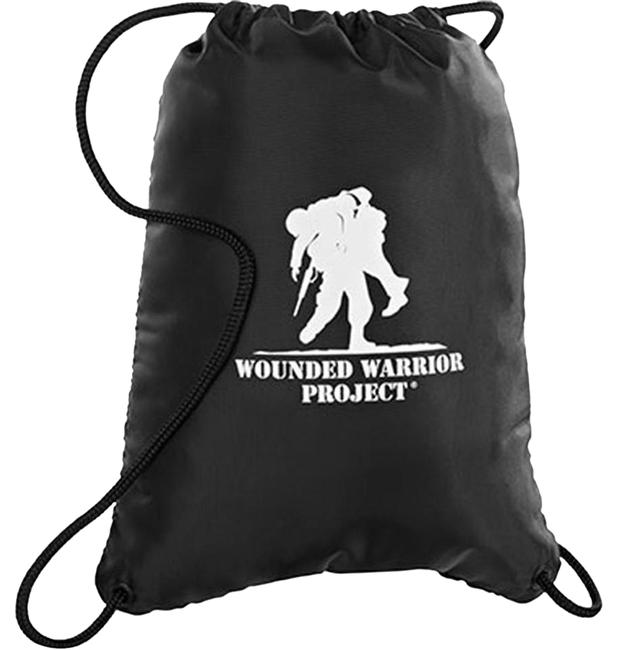 """Item - Wounded Warrior Project """"Greatest Casualty"""" Black Backpack"""
