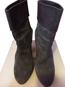 Moschino Suede Leather Grey Boots
