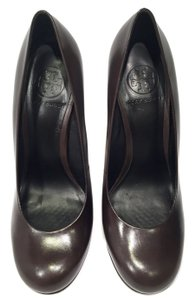Tory Burch Leather Business Meeting Leather Heel US 7M Brown Mules