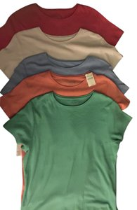 Coldwater Creek Five T-shirts five different colors