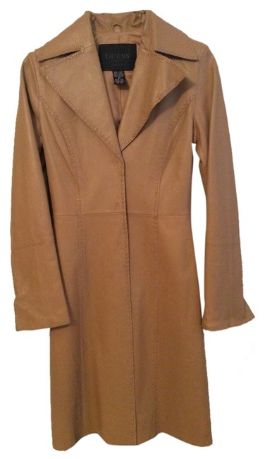 Preload https://item3.tradesy.com/images/guess-genuine-soft-camel-leather-dress-hourglass-vintage-trench-coat-size-2-xs-1745652-0-0.jpg?width=400&height=650