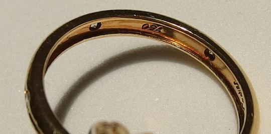 Cartier Authentic Cartier 18k Yellow Gold 0.37ct VS Diamond Trinity Ring Size 53, US 6.5 Image 3