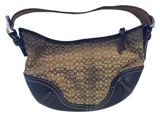 Preload https://item4.tradesy.com/images/coach-black-and-brown-leather-canvas-hobo-bag-1745678-0-0.jpg?width=440&height=440