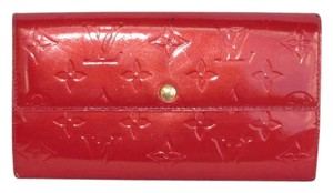 Louis Vuitton Monogram Vernis Pommel D'Amour Red Wallet