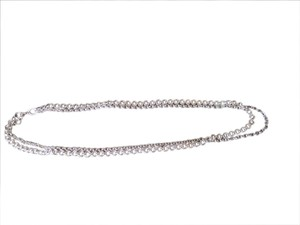 White House | Black Market Silver chain link double necklace