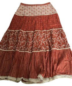Other Laced Long Skirt Red, White