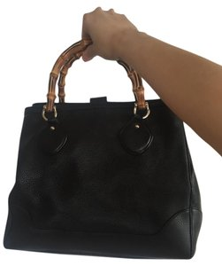 Gucci Bamboo Tote in Black