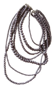 Other gray multi length necklace